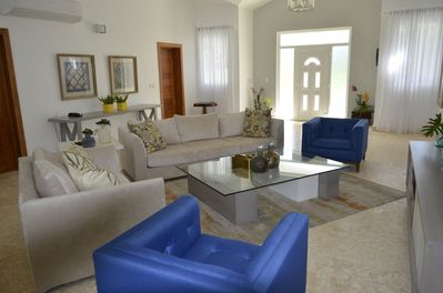 Beautiful, comfortable, custom built furniture throughout villa