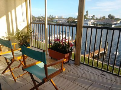 Photo for Waterfront Private Condo Beach, Pool, Terrace, Boat Dock!