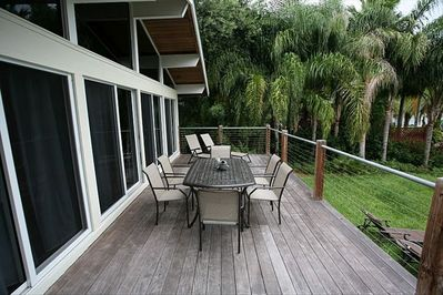 Relax on two decks overlooking the lake, w/beautiful sunrises, bird watching.