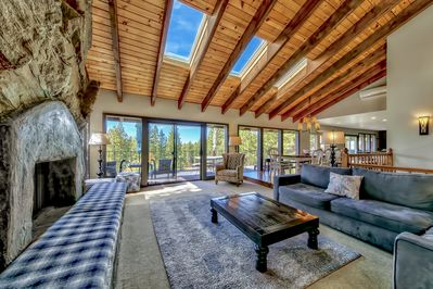Living Room With Views Of The Mountains and Lake