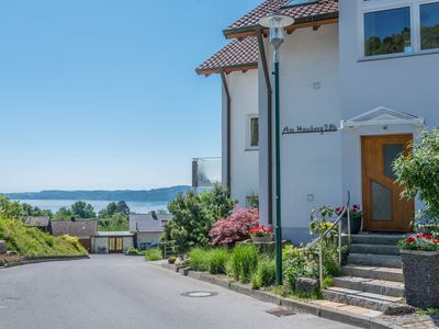 Photo for Holiday apartment Geigenberg in a quiet southern location close to the forest with lake view at the edge of Sipplingen