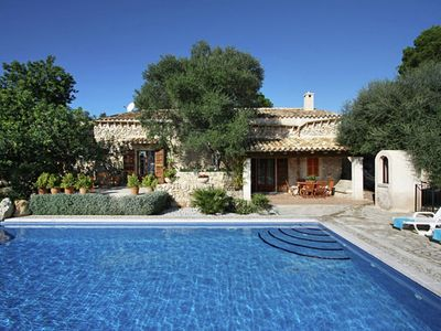 Photo for Mallorcan stone house with stunning views and private pool