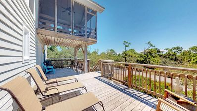 This Spacious Deck is wonderful for the whole family to enjoy!