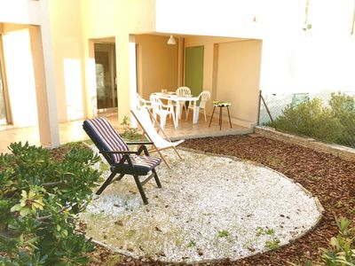 Photo for Pleasant T2 with big terrace seen sea, 150m beach of Portissol, wifi