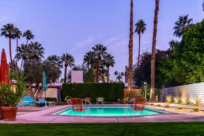 Backyard - The backyard is a private and spacious Palm Springs oasis!