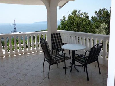 Photo for Studio flat with terrace and sea view Ičići (Opatija)