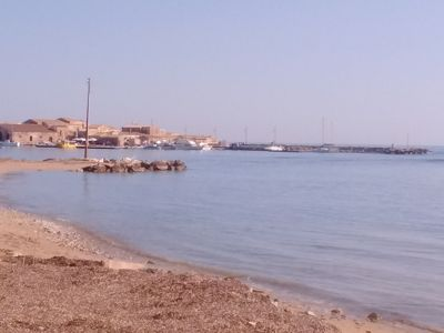 Photo for beach house just steps from the water next to a fishing Brogo Marzamemi 3