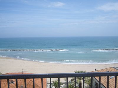 Photo for Super panoramic seafront penthouse with large terrace overlooking the sea and mountains