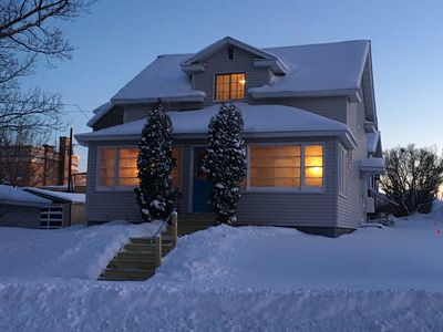 Photo for Cozy home, right in town, enjoy 4 seasons of Northwoods Fun.