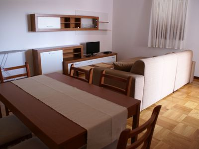 Photo for 83 m² apartment on the outskirts of the city of Krk - with air conditioning, satellite TV