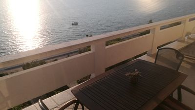 Photo for 4 * Penthouse Apartment Kovacika M2 with stonishing seafront view direct at beach
