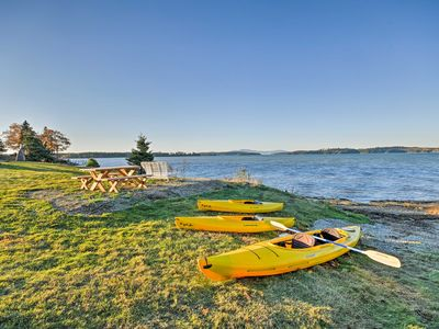 Photo for Oceanfront Sullivan Cottage on 6 Acres w/Kayak!