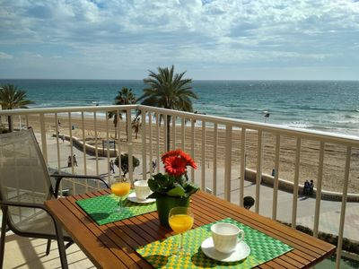 Photo for Calpe: Nice apartment with terrace on the beach front & FREE WIFI