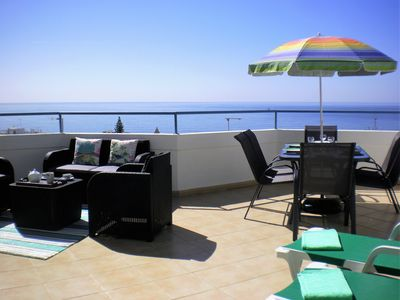 Photo for Top Vista Mar Beachfront oceanfront penthouse for 1-6 with a panoramic terrace