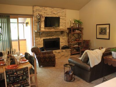 Photo for Affordable, large condo that is comfy, close to lift, downtown, ample parking.