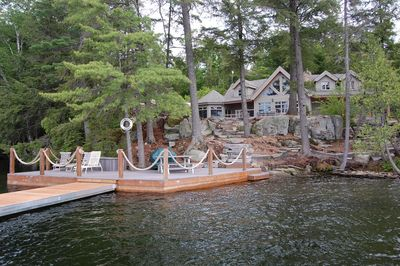 View of cottage from water
