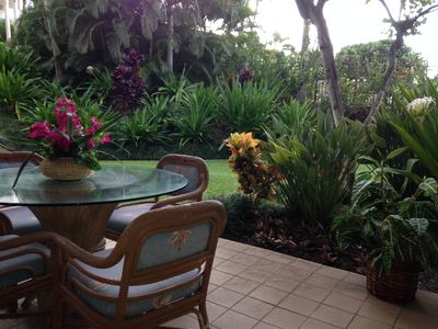 BEAUTIFUL wrap around lanai.  Second set of seating just outside the living room