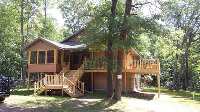 Photo for Northwoods Wisconsin Retreat!!  Newly built cabin sleeps 10 comfortably.