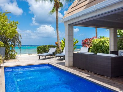 Photo for Private Beachfront Villa, Stunning Caribbean Sea Views, Plunge Pool, Alfresco Dining, Free Wifi