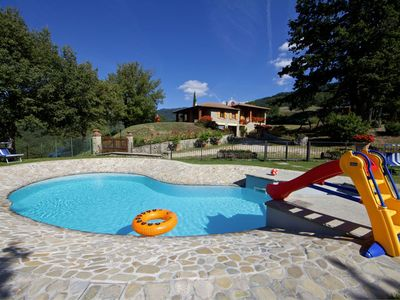 Photo for 3 bedrooms villa with private pool and garden. Good value for money. Casentino Valley, Stia.