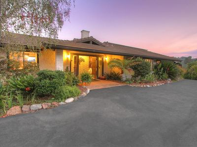 Photo for Hilltop Eco-Friendly Mid-Century Style Ranch in San Diego's Fallbrook