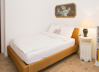 The sleeping room with a double bed (1,40 x 2,00 m)