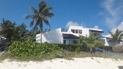 View of villa from the beach.