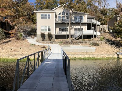 Photo for SWEET RETREAT! Cruiser dock, High dive, Diving board, DEEP water cove!