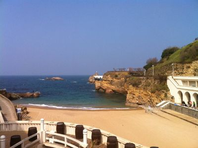 Photo for Apartment/ flat - Biarritz The beach and town down the building, first line sea view