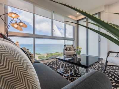 Photo for Chic Black & White, Oceanfront Condo for 8! Azure-616