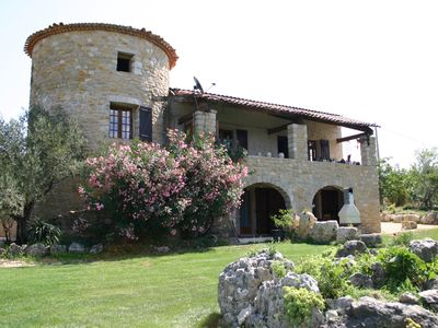 Photo for Cottage, stone house, southern Ardeche, comfort, swimming pool, wine grower, olive, hiking