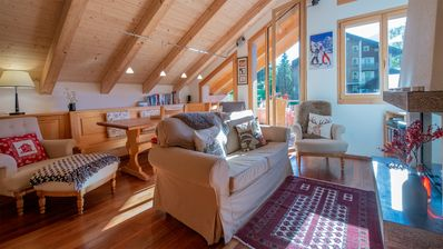 Photo for Ski-in, Ski-out Chalet Luna Penthouse B - duplex, 3 bedrooms, 3 bathrooms