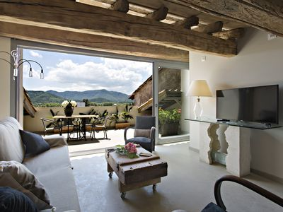 Photo for L'Argenter, Attic with terrace and indoor pool, in the center of Olot