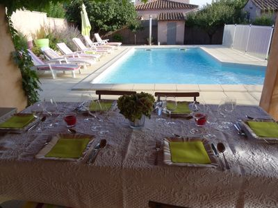 Photo for South of France - Air-conditioned garden house and secure pool with barrier