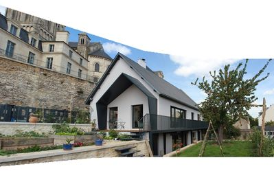 Photo for In the heart of Caen, contemporary house, with views of the abbey and terraced gardens