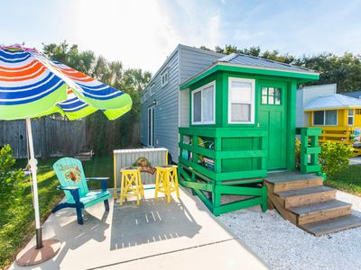 Photo for Tiny House Green Lifeguard Stand located 3/4 of a mile from the beach in our Tiny House park!