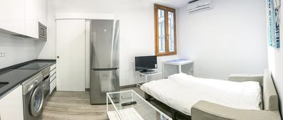 Photo for Sagasta Almagro apartment in Chamberí with WiFi, integrated air conditioning & lift.