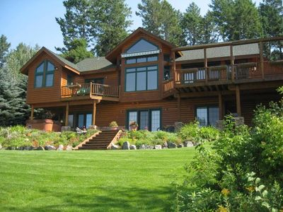 Photo for Flathead Lake, Exquisite Log Home and Guest Cabin