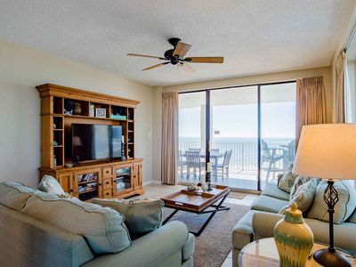 Photo for Large Beachfront Condo with Huge Balcony. Steps from the Sand! Enjoy Updates Throughout!