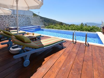 Photo for Secluded 2 Bedroom Villa with Magnificent Sea Views and Infinity Pool