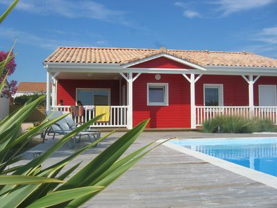 Photo for 3 * Listed Wooden House by the Sea with Heated Pool and Internet / WIFI