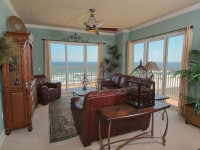 Only beach in front of your balcony;wraparound balcony;largest unit in the bldg.