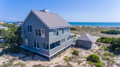 Photo for Pets welcomed, great beach cottage, steps to the ocean, family-friendly, BHI