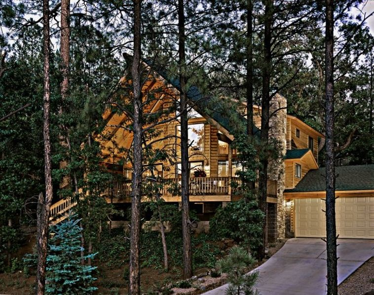 no by rentals in pinetop rustic friendly cabin pond fee pin cabins rental pines dog pet