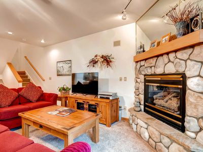 Photo for 7th Night Free! Steps to Snowflake Lift, Private Hot Tub, Wi-Fi, Gas Fireplace