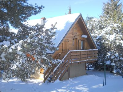 Photo for Separate chalet by the Maternale lake facing Angles, quiet