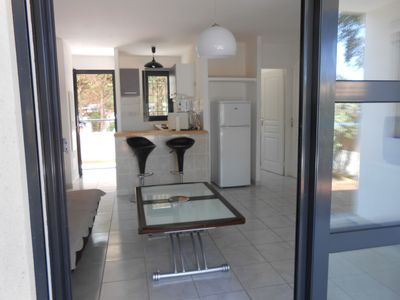 Photo for Beautiful comfortable T3, air conditioned, garden level, terraces, 100 m from the beaches