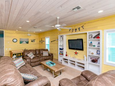 Photo for Sunny Newly Built 4BR w/ Multiple Decks - 5 Minutes to Beach, Walk to Dining