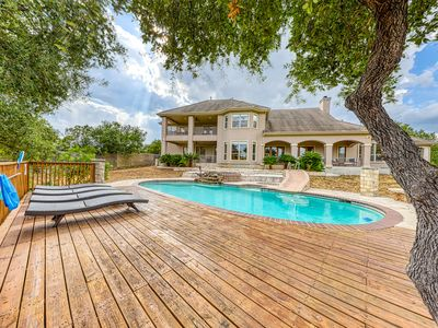 Photo for Lakefront home w/ private pool and hot tub, patio, fireplace, and more!