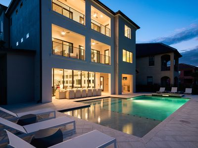 Photo for 8,400 sq ft Luxury Villa with Games Room, Home Theater, Private Pool & Spa